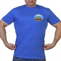Васильковая футболка с термотрансфером 217 гв. Ивановский ПДП