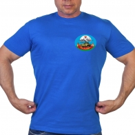 Васильковая футболка с термотрансфером 51 гв. ПДП
