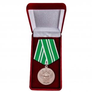 """Ведомственная медаль """"За службу в таможенных органах"""" 2 степени - в футляре"""