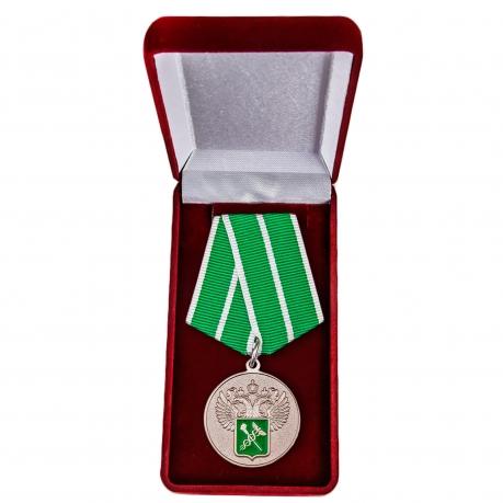 """Ведомственная медаль """"За службу в таможенных органах"""" 1 степени - в футляре"""