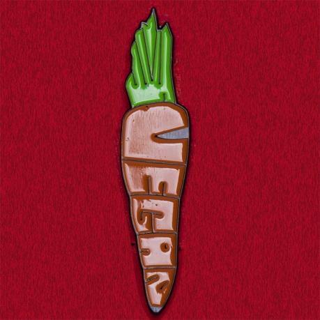 """Веганский значок """"Морковка"""""""