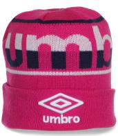 Великолепная женская шапка Umbro с отворотом