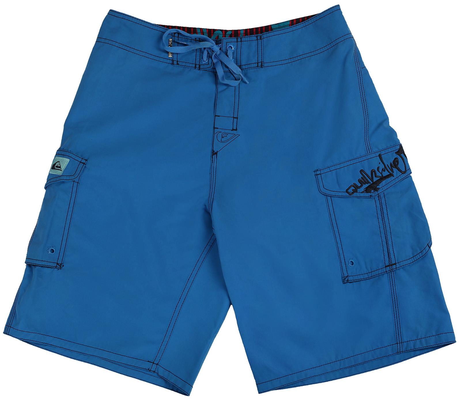 Синие мужские шорты с карманами