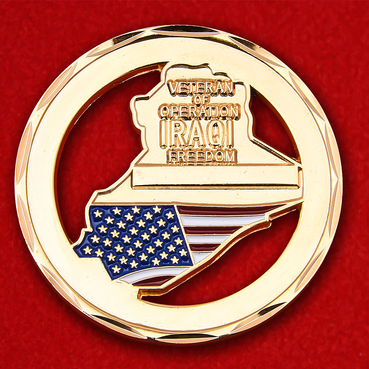 """Veteran of Operation Iraqi Freedom"" Challenge Coin"