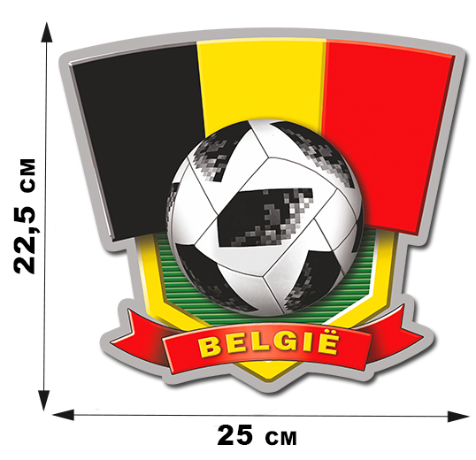 Виниловая автонаклейка Belgium