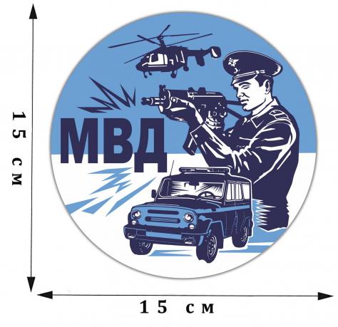 Виниловая автонаклейка МВД