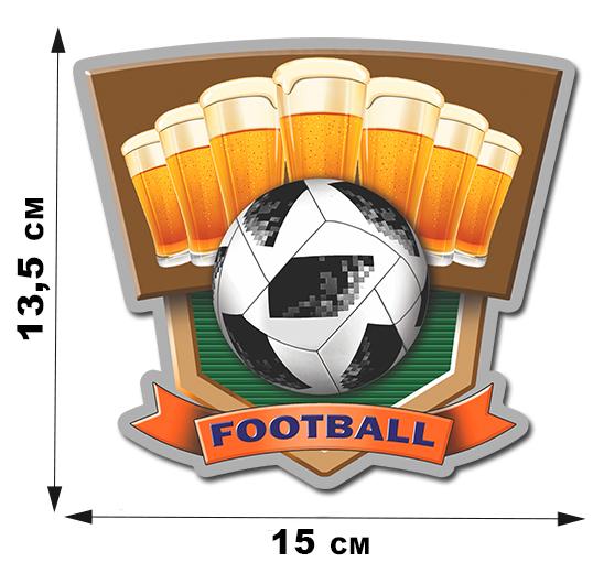 Виниловая фанатская наклейка Football