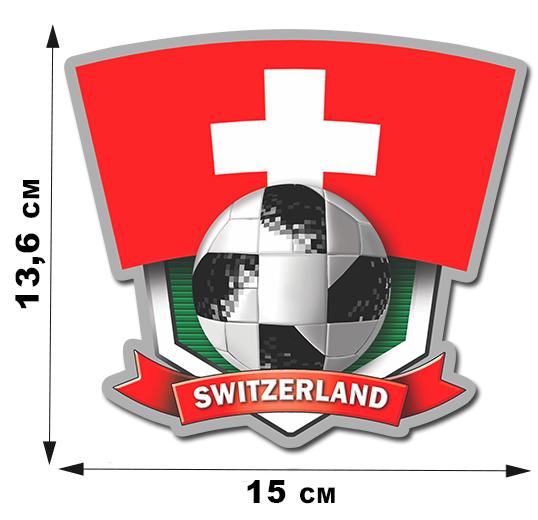 Виниловая фанатская наклейка Switzerland