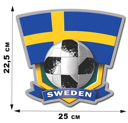 Виниловая наклейка SWEDEN