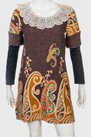 Винтажное красивое платье с плетеным воротничком