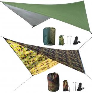 Влагостойкий защитный навес для походов (зеленый)