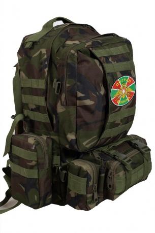 Вместительный армейский рюкзак с нашивкой ПОГРАНВОЙСКА - заказать оптом
