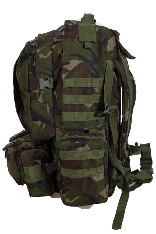 Вместительный армейский рюкзак с нашивкой ПС - заказать с доставкой