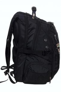 Заказать вместительный черный рюкзак с эмблемой Охотничьего спецназа