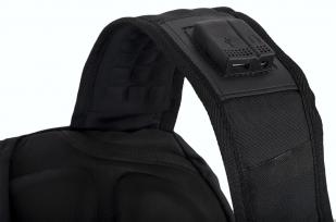 Вместительный черный рюкзак с эмблемой Охотничьего спецназа купить в подарок