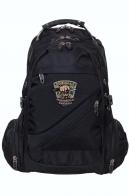 Вместительный черный рюкзак с эмблемой Охотничьих войск