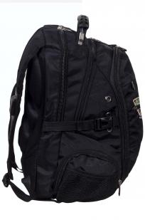 Заказать вместительный черный рюкзак с эмблемой Охотничьих войск