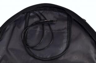 Вместительный черный рюкзак с эмблемой Охотничьих войск купить в подарок