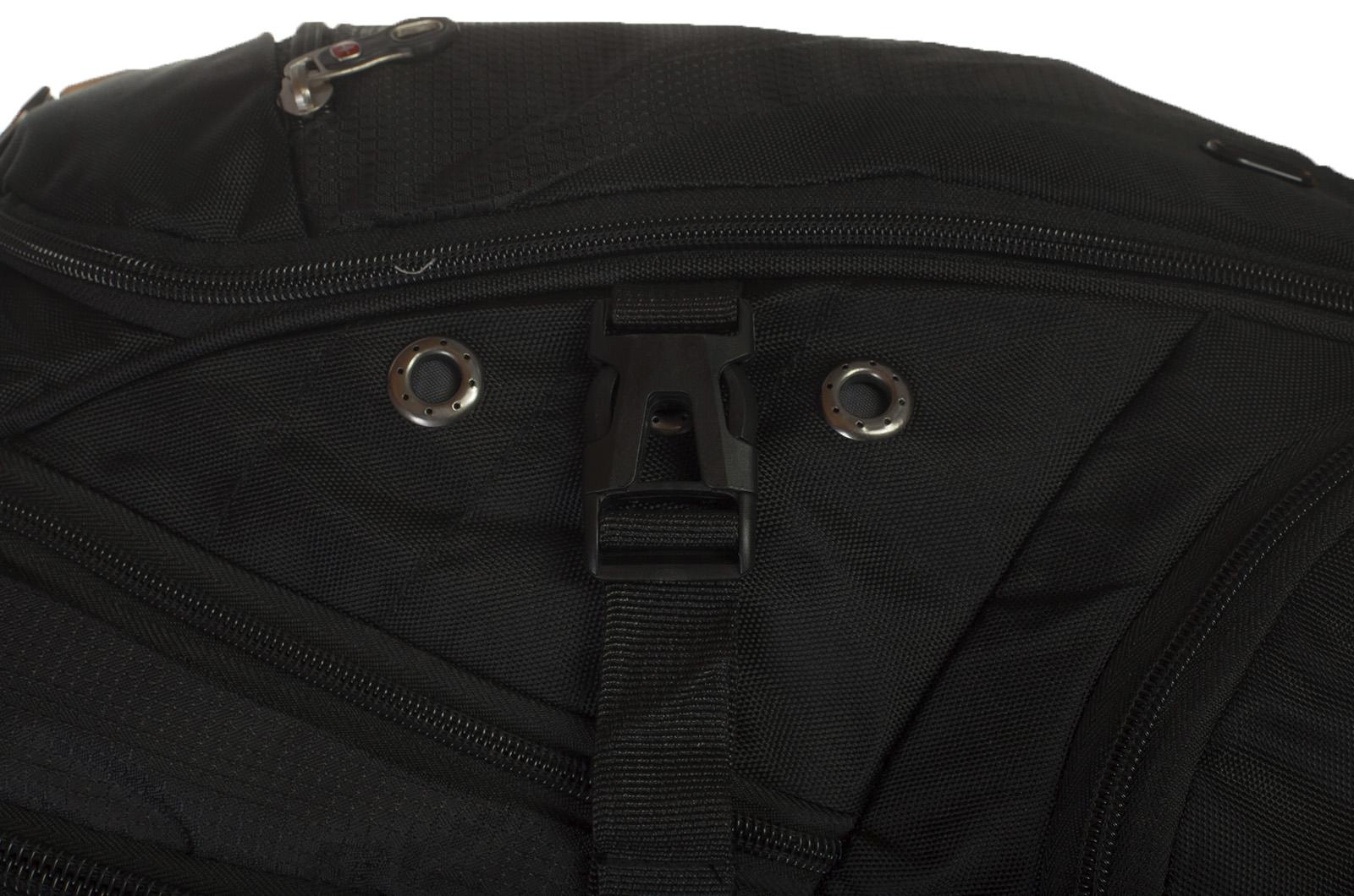 Вместительный черный рюкзак с эмблемой Осторожно страйкболист купить выгодно