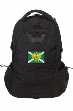 Вместительный черный рюкзак с нашивкой Таможня