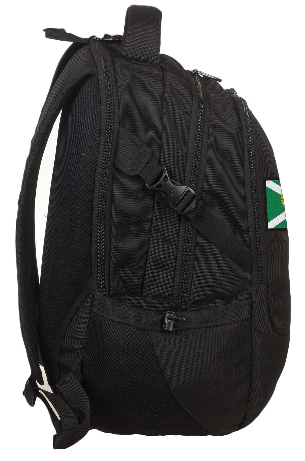 Вместительный черный рюкзак с нашивкой Таможня - купить в подарок