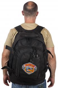 Вместительный черный рюкзак с рыбацкой фразой Эх, хвост, чешуя... - купить онлайн