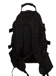 Вместительный черный рюкзак с рыбацкой фразой Эх, хвост, чешуя... - купить в розницу