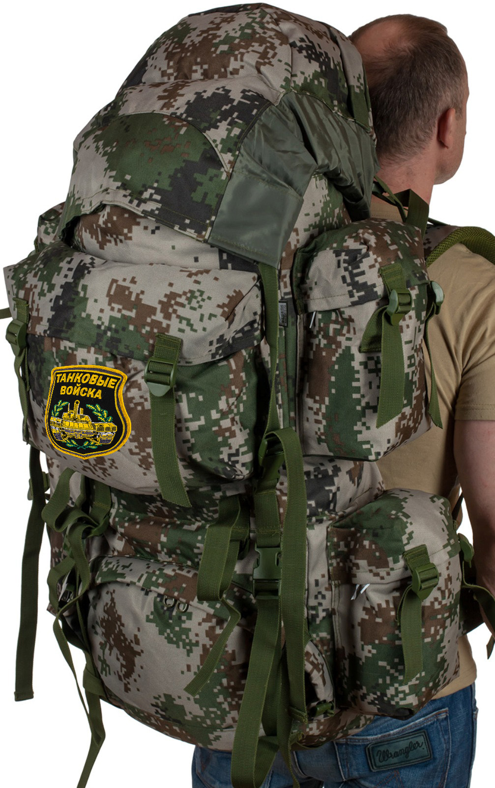 Вместительный эргономичный рюкзак с нашивкой Танковые Войска