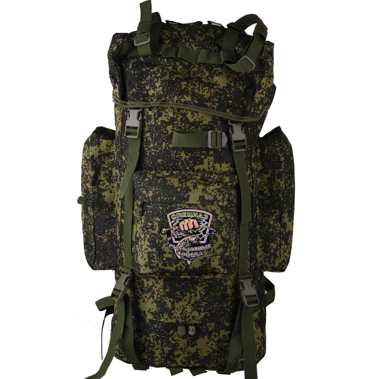 Вместительный камуфляжный рюкзак с нашивкой Рыболовный Спецназ - заказать с доставкой