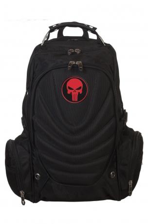 Вместительный крутой рюкзак с нашивкой Каратель