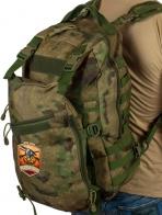 Вместительный мужской рюкзак с нашивкой Русская Охота