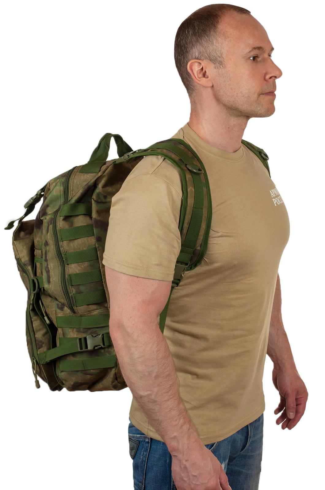 Вместительный мужской рюкзак с нашивкой Русская Охота - купить выгодно