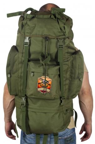 Вместительный надежный рюкзак с в нашивкой Русская Охота
