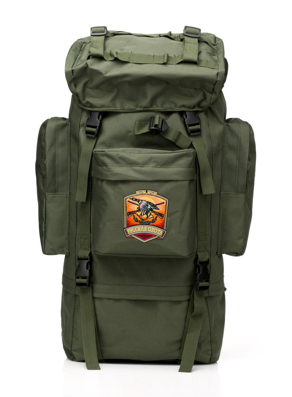 Вместительный надежный рюкзак с в нашивкой Русская Охота - купить по низкой цене