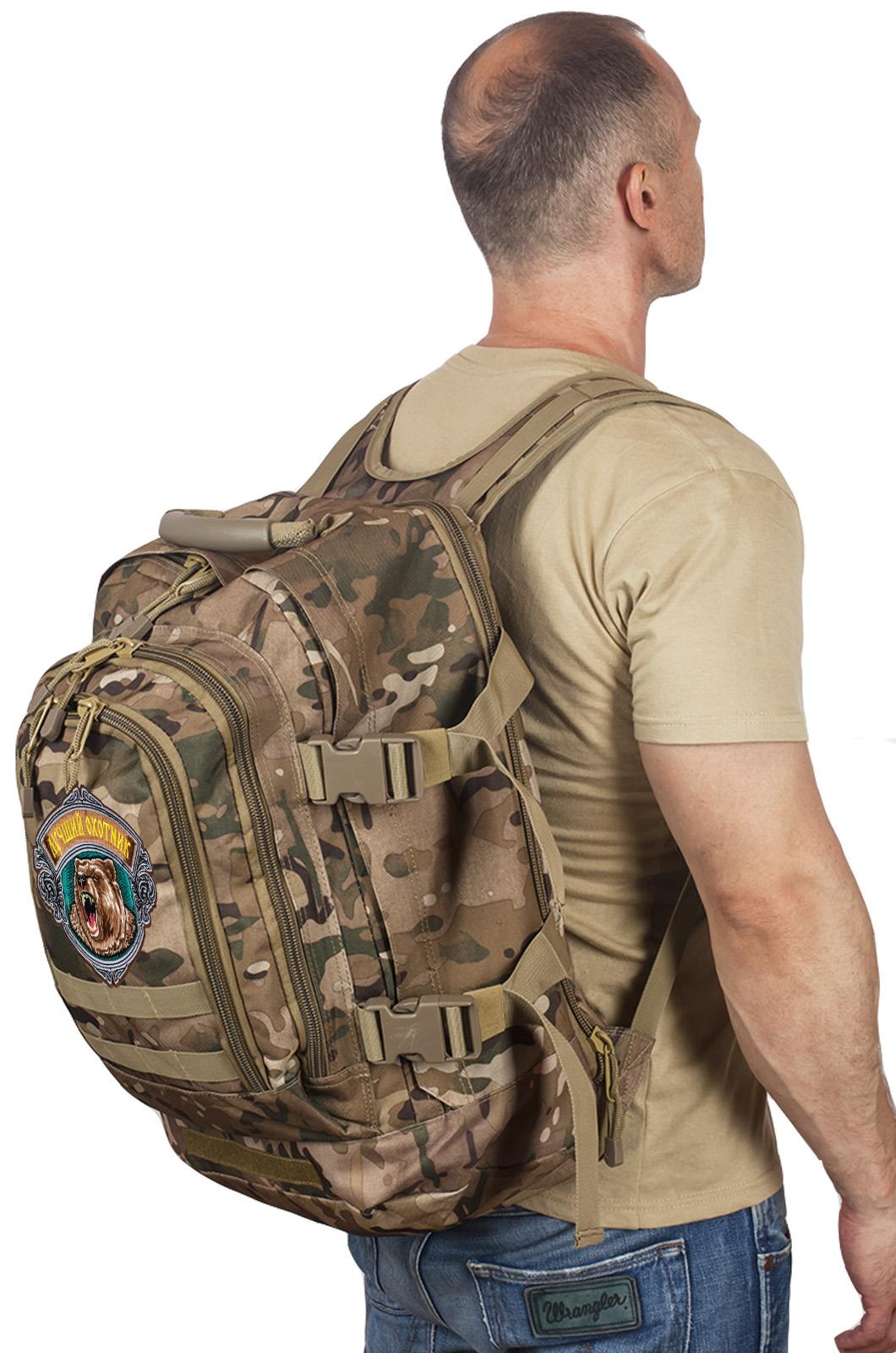 Вместительный рейдовый рюкзак с нашивкой Лучший Охотник - заказать оптом