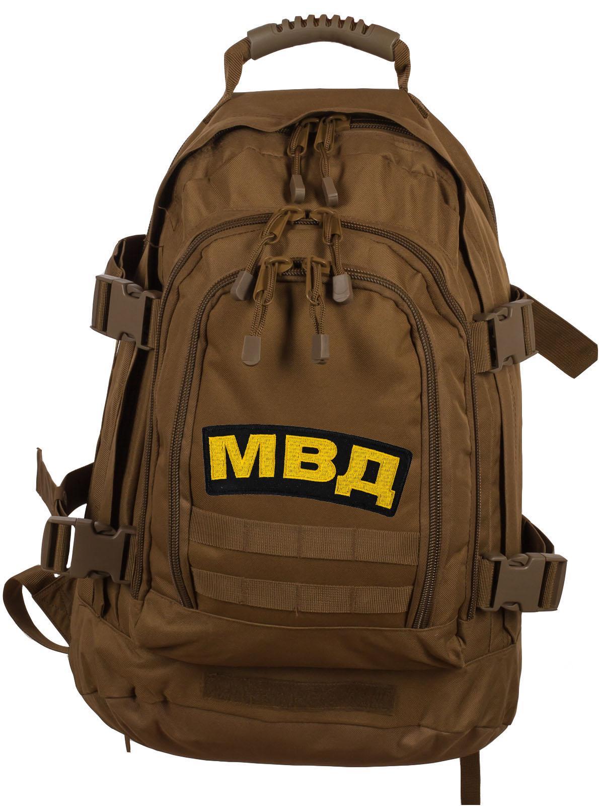 Вместительный трехдневный рюкзак с нашивкой МВД - заказать оптом