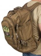 Вместительный удобный рюкзак с нашивкой Герб России