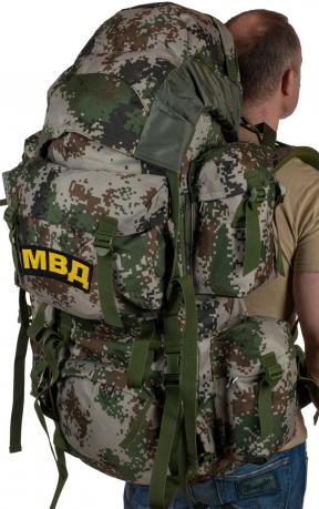 Вместительный военный рюкзак с нашивкой МВД - купить выгодно