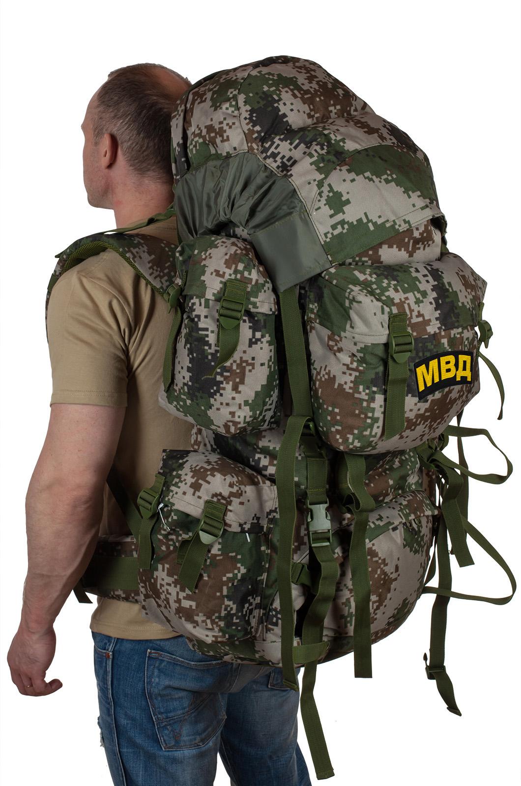 Вместительный военный рюкзак с нашивкой МВД - купить с доставкой