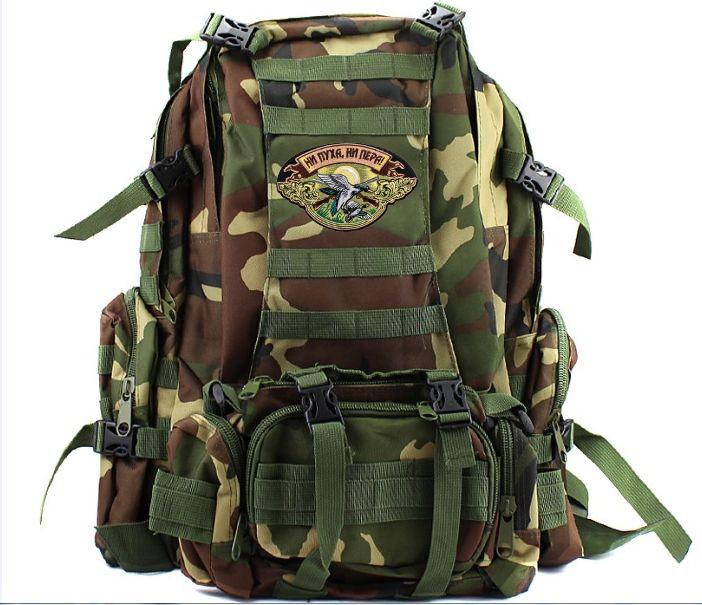 Вместительный охотничий рюкзак с нашивкой НИ ПУХА, НИ ПЕРА! - купить выгодно
