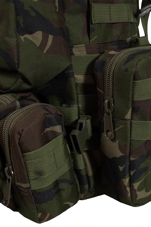 Вместительный охотничий рюкзак с нашивкой НИ ПУХА, НИ ПЕРА! - купить с доставкой