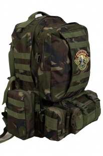 Вместительный охотничий рюкзак с нашивкой НИ ПУХА, НИ ПЕРА! - заказать онлайн