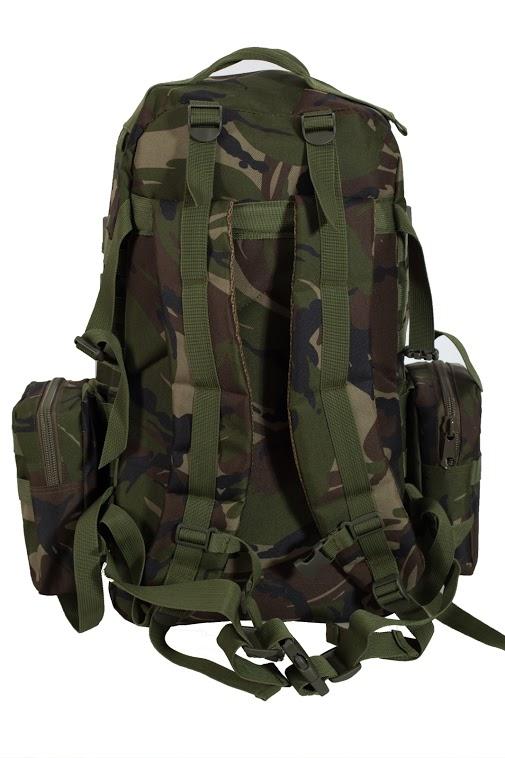Вместительный охотничий рюкзак с нашивкой НИ ПУХА, НИ ПЕРА! - заказать с доставкой