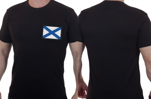 Мужская ВМФ футболка с Андреевским флагом
