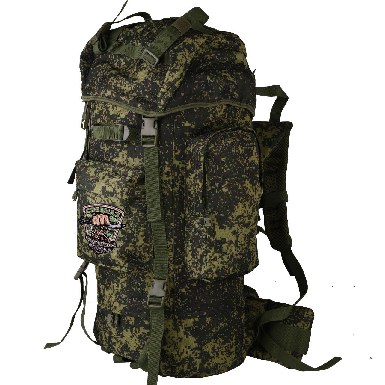Внушительный камуфляжный рюкзак с нашивкой Охотничий Спецназ - купить в Военпро