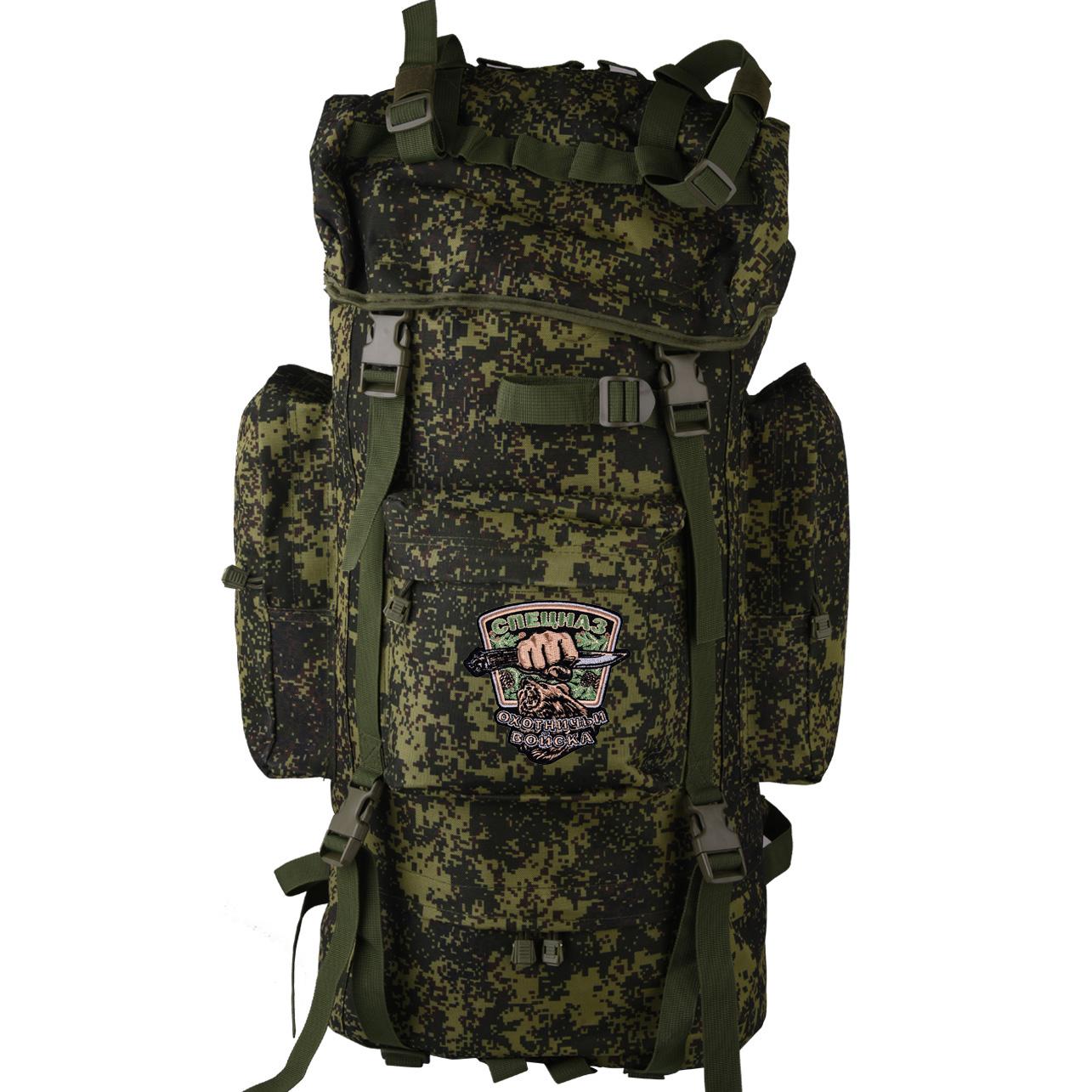 Внушительный камуфляжный рюкзак с нашивкой Охотничий Спецназ - купить по низкой цене