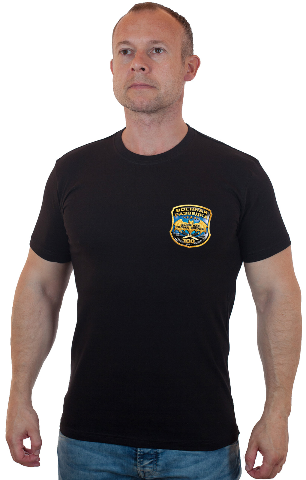 Купить военную черную футболку разведчика по оптимальной цене