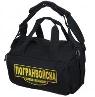 Военная черная сумка-рюкзак Погранвойска - купить по низкой цене