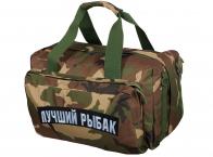 Военная дорожная сумка с нашивкой Лучший Рыбак
