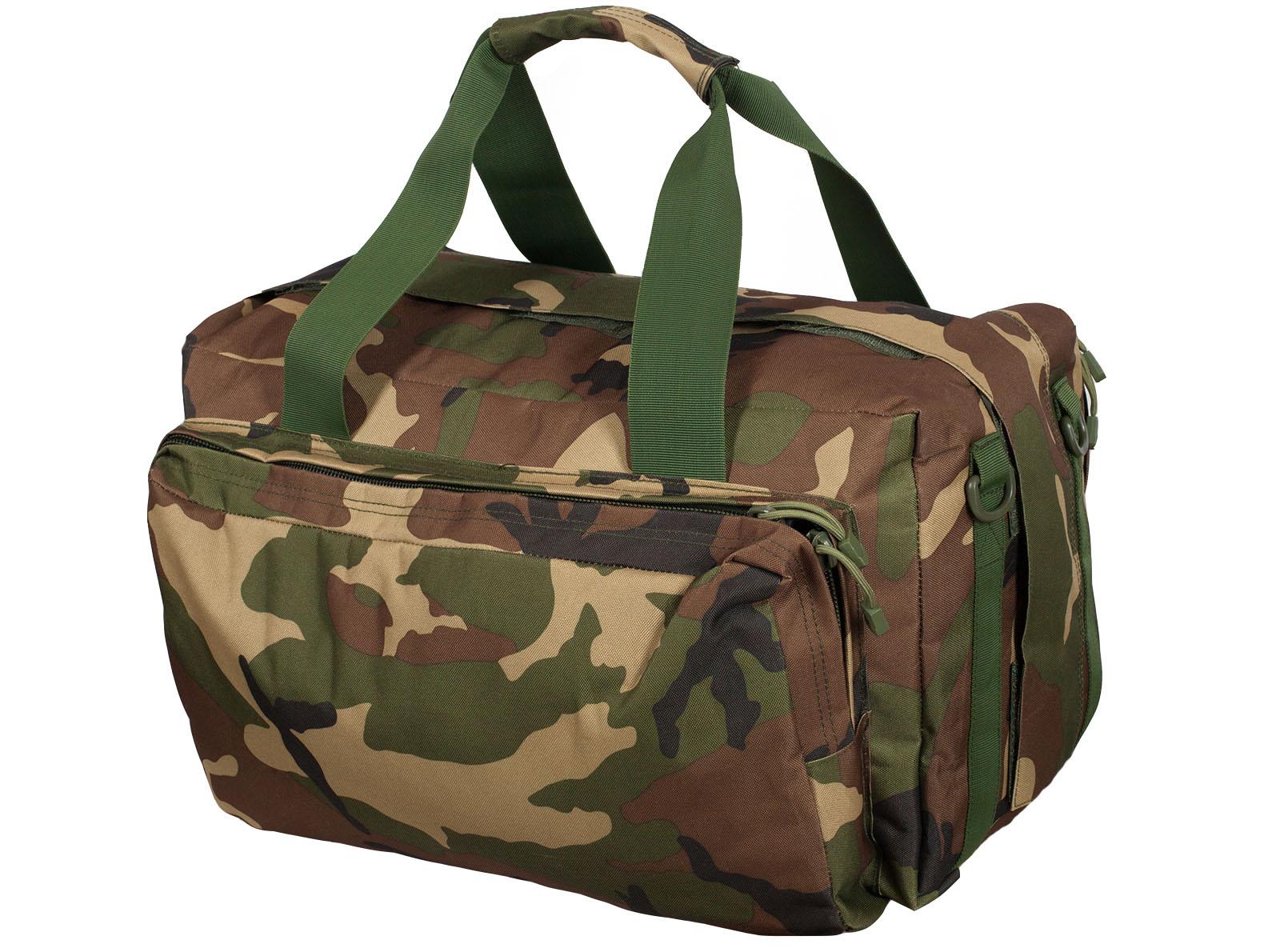 Военная дорожная сумка с нашивкой Погранвойска - заказать в подарок